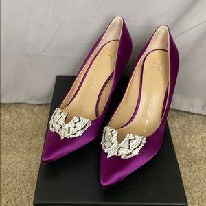 Authentic Giuseppe Zanotti Design purple pumps